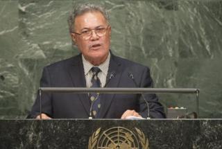 Rt Hon Enele Sosene Sopoaga, Prime Minister of Tuvalu